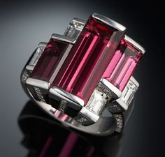 PINK ADDICTION — Tourmaline and diamond ring