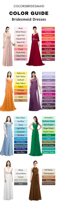 500+ styles bridesmaid dresses in 150+ colors (pink, red, green, blue, white, brown, black color families) $69-99 with 70% Off, custom made to all sizes. Cheap bridesmaid dresses with great quality.