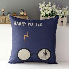 Harry Potter Soft Cotton Linen Throw Pillow