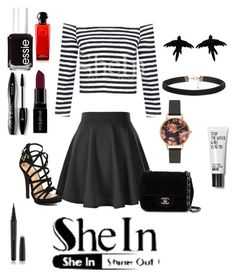 """SHEIN CONTEST!"" by dino-islamovic ❤ liked on Polyvore featuring Chanel, Olivia Burton, olgafacesrok, Marc Jacobs, Lancôme, Smashbox, Essie, women's clothing, women and female"