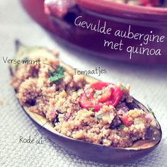 Gevulde aubergine met quinoa