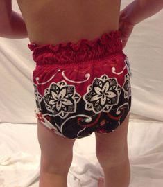 Boho bloomers! Super stylin potty training pants. 2T upcycled tshirt potty training pants red by BabyBugShop on Etsy Toddler underwear, children's clothing, boho chic, boho style, bloomers, girls underwear