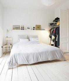 #bedroom #minimal #white #wooden floor