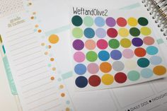 42 Multi Colored Dot Stickers / Perfect for Erin Condren Life Planners!