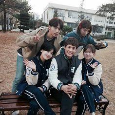 Cast of weightlifting fairy kim bok joo Lee Jong Suk, Nam Joo Hyuk Lee Sung Kyung, Korean Celebrities, Korean Actors, Korean Dramas, Kim Bok Joo Wallpaper, Weightlifting Kim Bok Joo, Weighlifting Fairy Kim Bok Joo, Goblin