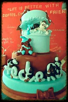 teddy bear for Federico Birthday Cake, Teddy Bear, Tasty, Desserts, Food, Birthday Cakes, Meal, Deserts, Essen