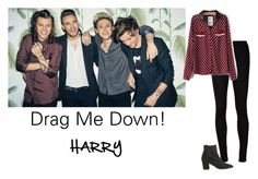 """""""""""Drag Me Down"""" Photo shoot ~ One Direction ~ Girl Versions ~ Harry"""" by hanakdudley ❤ liked on Polyvore"""