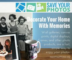 Get your photos out of the box and decorate your home with your treasured pictures.   SaveYourPhotos.org