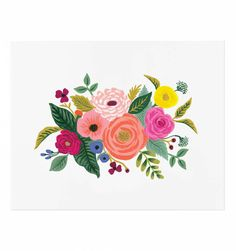 Juliet Rose Illustrated Art Print