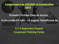4 x 4 Beginners Squash Corporate Training Camp - SquashMania. Sport, Squash, Training, Camping, Deporte, Coaching, Pumpkins, Gourd, Sports