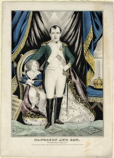 Napoleon and his son, J. Baille, 1845