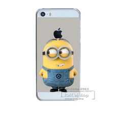 Despicable Me Yellow Minions For Apple iphone 5 5S Case Hard Transparent Cover For iphone5 5S