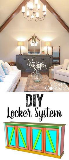 LOVE this Locker Storage Cabinet! Free plans and tutorial! www.shanty-2-chic.com