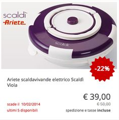 #Scaldavivande elettrico #Scaldì #Ariete viola