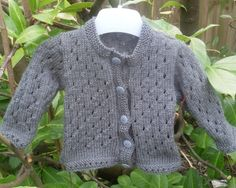 Hand Knitted Baby Cardigan 0-3 Months Size