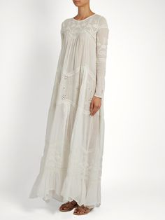 Click here to buy Mes Demoiselles Vaudeville embroidered cotton-gauze maxi dress at MATCHESFASHION.COM