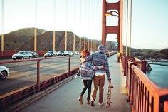 [ san francisco bridge, skateboard and my love. #letsgetaway ]