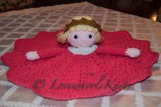 Princess Loveys Security Blanket by LovewhorlsKnits on Etsy