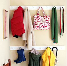 """In the """"entry way"""" in lieu of a coat rack.."""