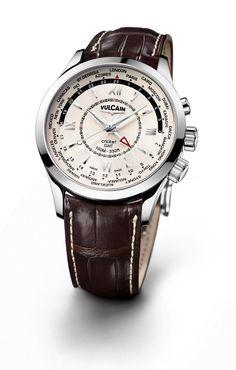 Vulcain Aviator GMT Steel #bremont Swiss Watchmakers #horlogerie #vulcain @calibrelondon