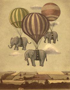 Flight of the elephants... I LOVE elephants