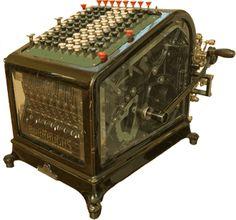 Turn of the century adding machine