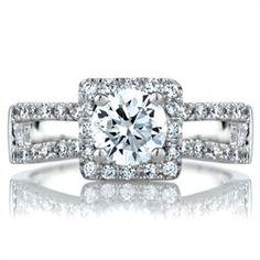 Gemma's .75 CT Round Cut CZ Engagement Ring - Final Sale