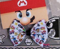 Nintendo Super Mario  Hair bow/ Bow tie Handmade door FangirlyStorm, $6.75