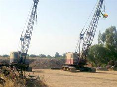 Bucyrus Erie, Crawler Crane, Heavy Equipment, Shovel, Utility Pole, Dustpan