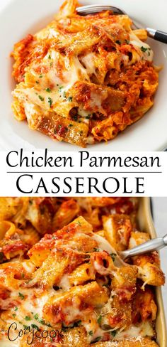 Chicken Parmesan Casserole Homemade crispy chicken, frozen chicken tenders, or leftover rotisserie chicken are perfect in this easy casserole recipe! Your family will love this easy make ahead meal. Leftover Chicken Recipes, Easy Chicken Recipes, Meat Recipes, Healthy Dinner Recipes, Cooking Recipes, Chicken Leftovers, Recipes Using Rotisserie Chicken, Leftover Rotisserie Chicken, Freezer Cooking