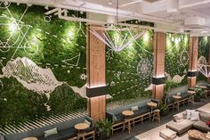 Plant wall installations in New York City. Moss wall art designed by Plant the Future can be seen in hotels, restaurants and workspaces in NYC. These green walls can be installed indoors or outdoors. Murals In Nyc, Decor Interior Design, Interior Decorating, Moss Wall, Green Wall Art, Wall Installation, Tropical Landscaping, Plant Wall, Live Plants