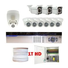 """Professional 16 Channel Full D1 H.264 DVR with one 10X Zoom Indoor PTZ Camera, 600TVL, and 9 x 1/3"""" Exview HAD CCD II with Effio-E DSP Devices Camera(1T HD) by Gw. $2200.00. Package Includes: GW3016 DVR with 1T HD; Remote Control and mouse; 1 x GW50FW - 10X Zoom Indoor PTZ Camera; 3 x GW40WD - 1/3"""" Effio CCD Camera 6 x GW108M - 1/3"""" Exview HAD CCD II Indoor Camera; 1 x GW500RG59: 500 Feet RG59 Siamese Power/Video Combo Cable; GW1218-10A: 1 x 18 ports power box; 1..."""