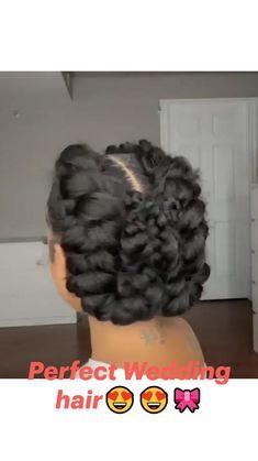 African Braids Hairstyles, Wedding Hairstyles, Black Girl Updo Hairstyles, Flat Twist Hairstyles, Natural Hair Braids, Braids For Black Hair, Natural Braided Hairstyles, Hair Ponytail Styles, Curly Hair Styles