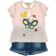 aeb8739fc77 Εβίτα παιδικό σετ μπλούζα-παντελόνι σορτς τζιν «Heart & Butterfly» -  Παιδικά ρούχα, βρεφικά ενδύματα, λευκά είδη για παιδιά AZshop.gr