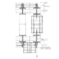 """plan detail: """"The drawing is the fundamental communicative tool of the discipline – be it plan, section, elevation, reflected ceiling plan, or axonometric. As architects, we draw."""""""