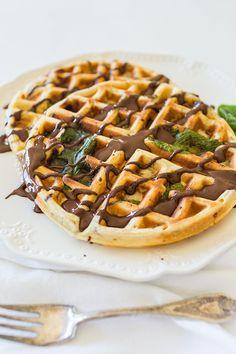 Summer Mint-chip Waffles courtesy of Lauren Lowstan