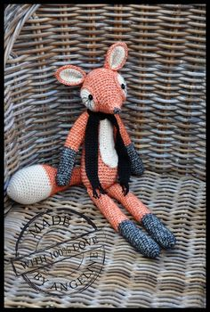 Crochet Fox from Vanessa Mooncie hooked with' Scheepjeswol' stonewashed yarn