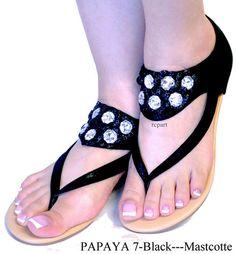 black sandals t strap open toe back zipper