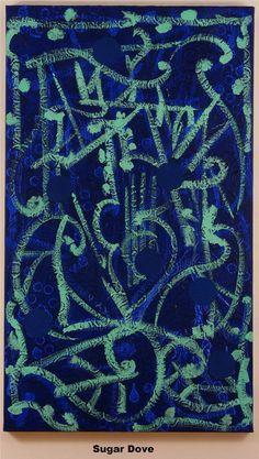 WilliamT. Williams(Born 1942), Sugar Dove, 2006, Acrylic on Canvas, 48x28 inches, Courtesy of Peg Alston Fine Arts