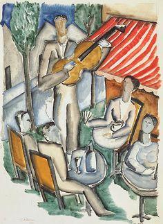 TICMUSart: The Guitar Player - Ossip Zadkine (1920) (I.M.)