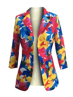 Look at the webpage just press the link for more details - ladies black blazer Casual Blazer Women, Blazer Jackets For Women, Blazers For Women, Suits For Women, Fix Clothing, Cheap Boutique Clothing, Floral Blazer, Floral Jacket, Autumn Clothes
