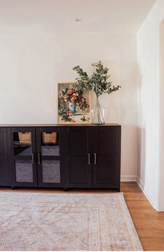 Studio Room Storage: IKEA Brimnes Cabinets | In Honor Of Design