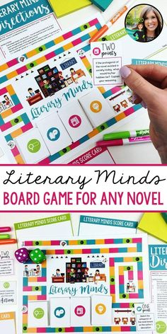 Fun, interactive game for ANY novel | reading board game | games for reading | Grades 5-12 | Upper elementary, middle school, and high school English activity