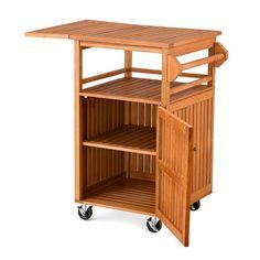 Outdoor Wood Serving Carts