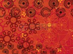 red mandala background