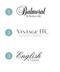 {Typeface Tuesday} Wedding Font Combinations /// By Design Fixation