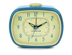 The vintage inspired Retro Alarm Clock by Kikkerland is now available at Smart Furniture. Wake up in style with Kikkerland clocks. Retro Alarm Clock, Travel Alarm Clock, Alarm Clocks, Wall Clocks, Blue Home Decor, Retro Home Decor, Looks Vintage, Retro Vintage, Vintage Clocks