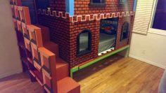 Mario Themed Bunk Bed via Reddit user queen_of_the_koopas