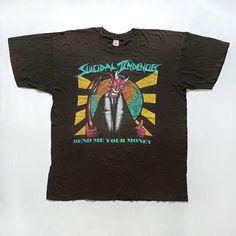 2b4cdf14a Details about Vtg 90s SUICIDAL TENDENCIES 1991 Send Me Your Money Tour T  Shirt XL Punk Thrash