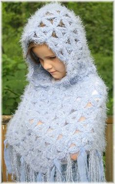 Ravelry: Childrens 4-10 Hooded Flower of Life Poncho Crochet Pattern pattern by Stacey Tallman